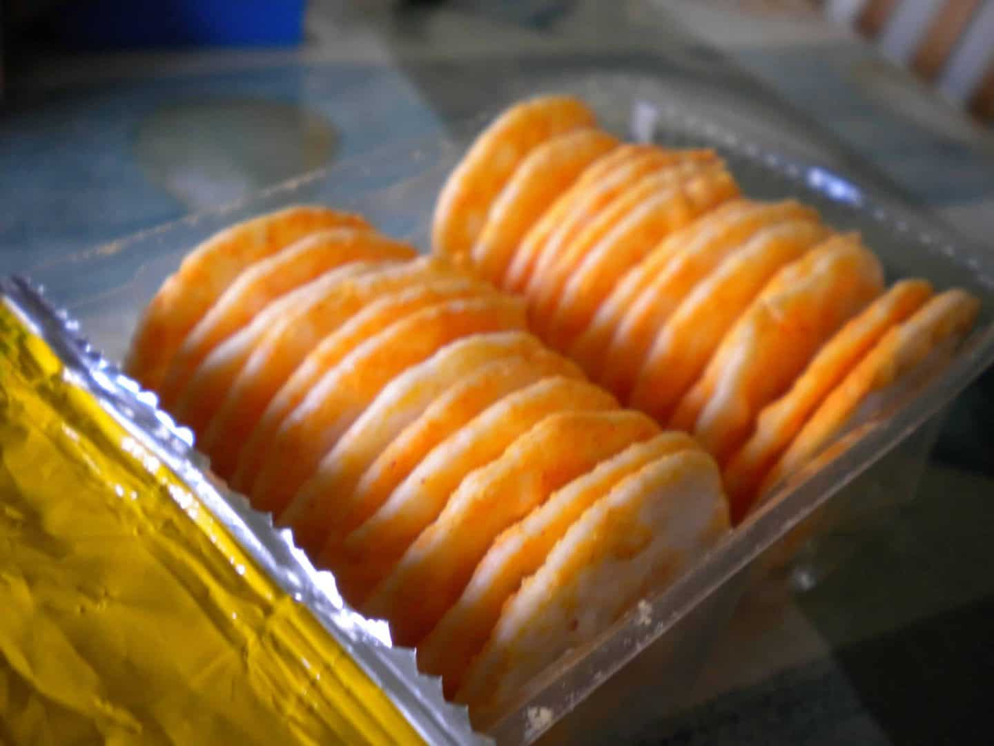 Gluten free Japanese rice crackers – great for sharing