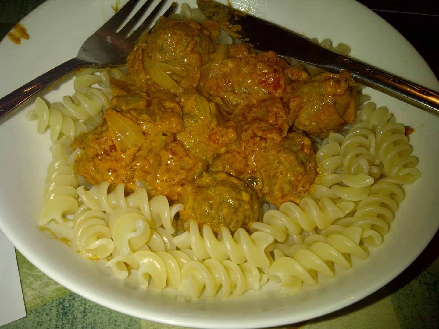 Delicious meatballs from the Black Farmer's Daughter