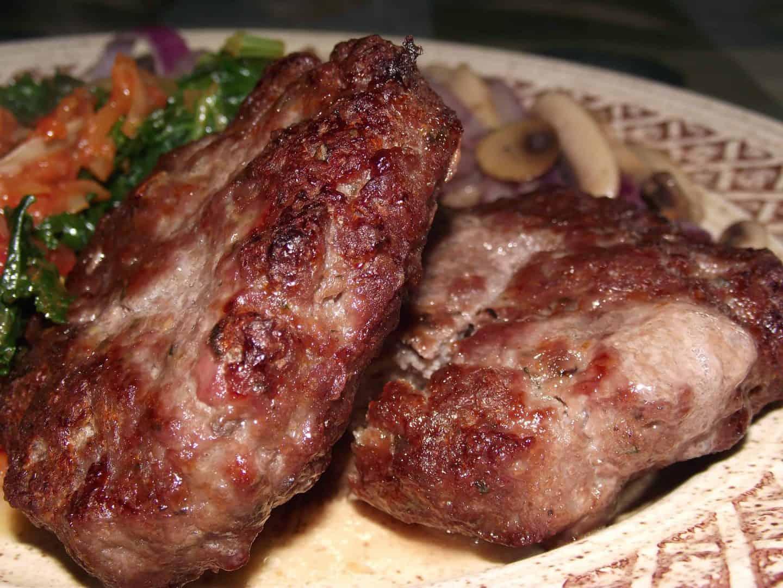 Juicy gluten free burgers from The Black Farmer