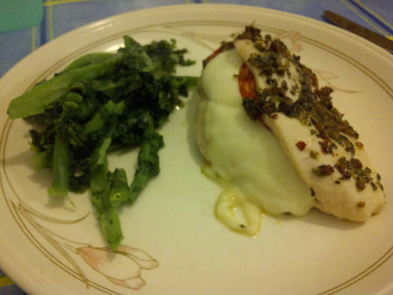 Recipe: Chicken with mozzarella, pepperoni and pesto