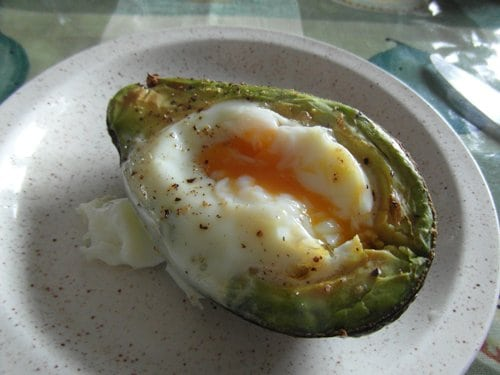 Avocado egg boats – a quick and easy gluten free snack or breakfast