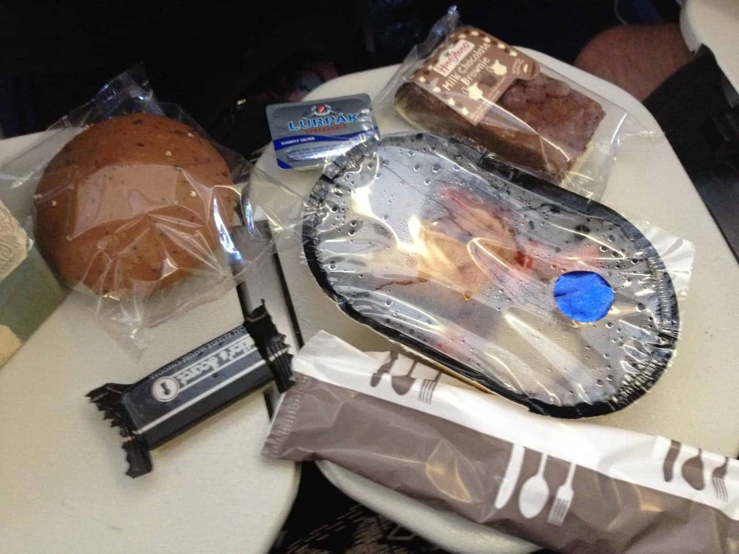 Gluten free airline food on Thomas Cook