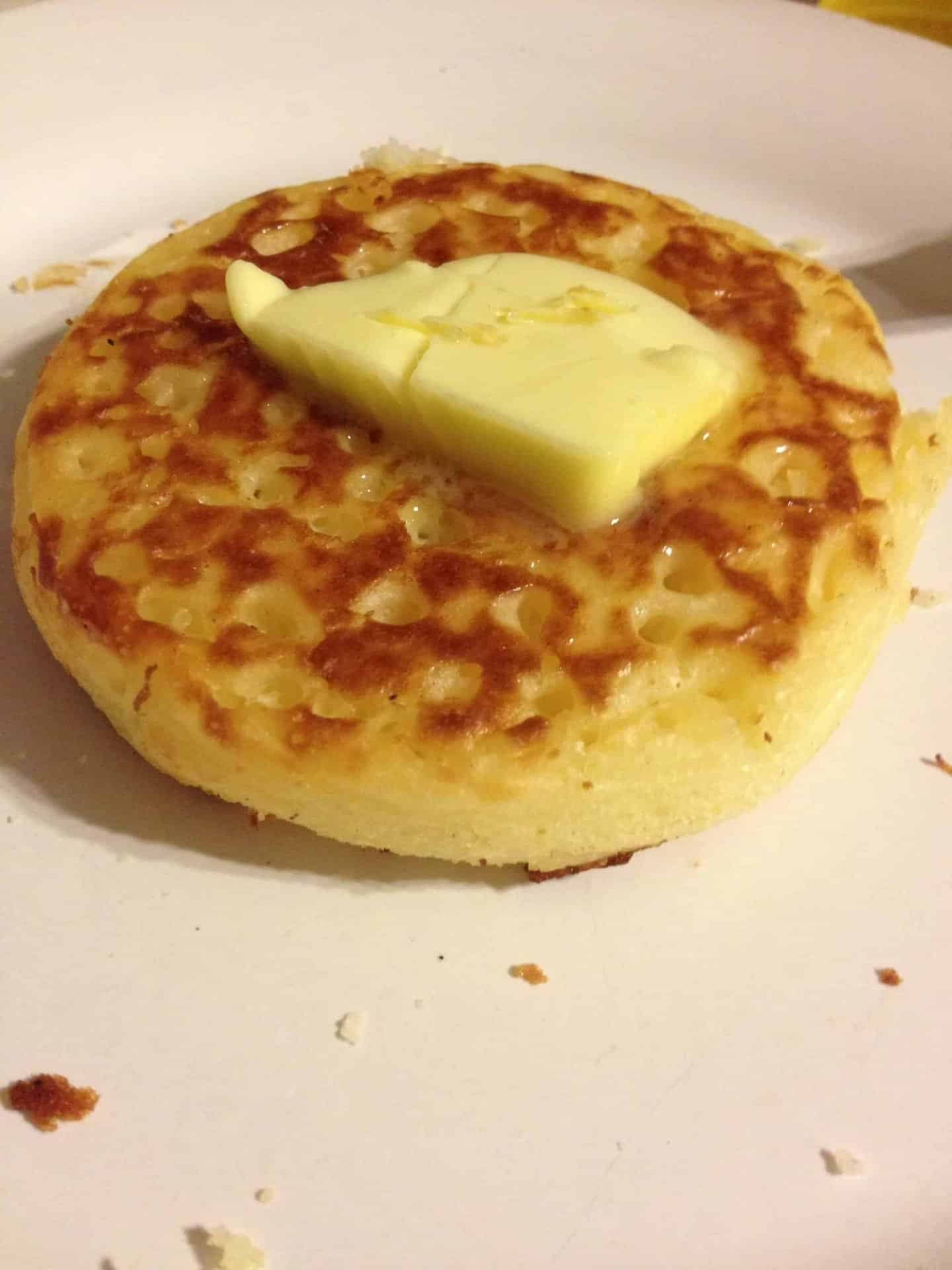 Gluten free, wheat free and dairy free crumpets from Genius