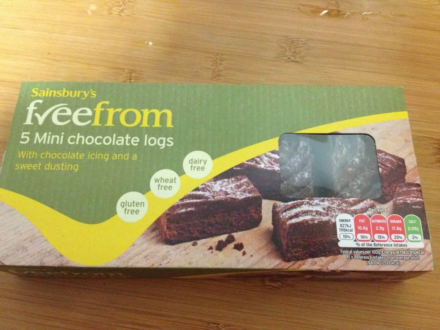Gluten free Christmas – mini yule logs from Sainsbury's
