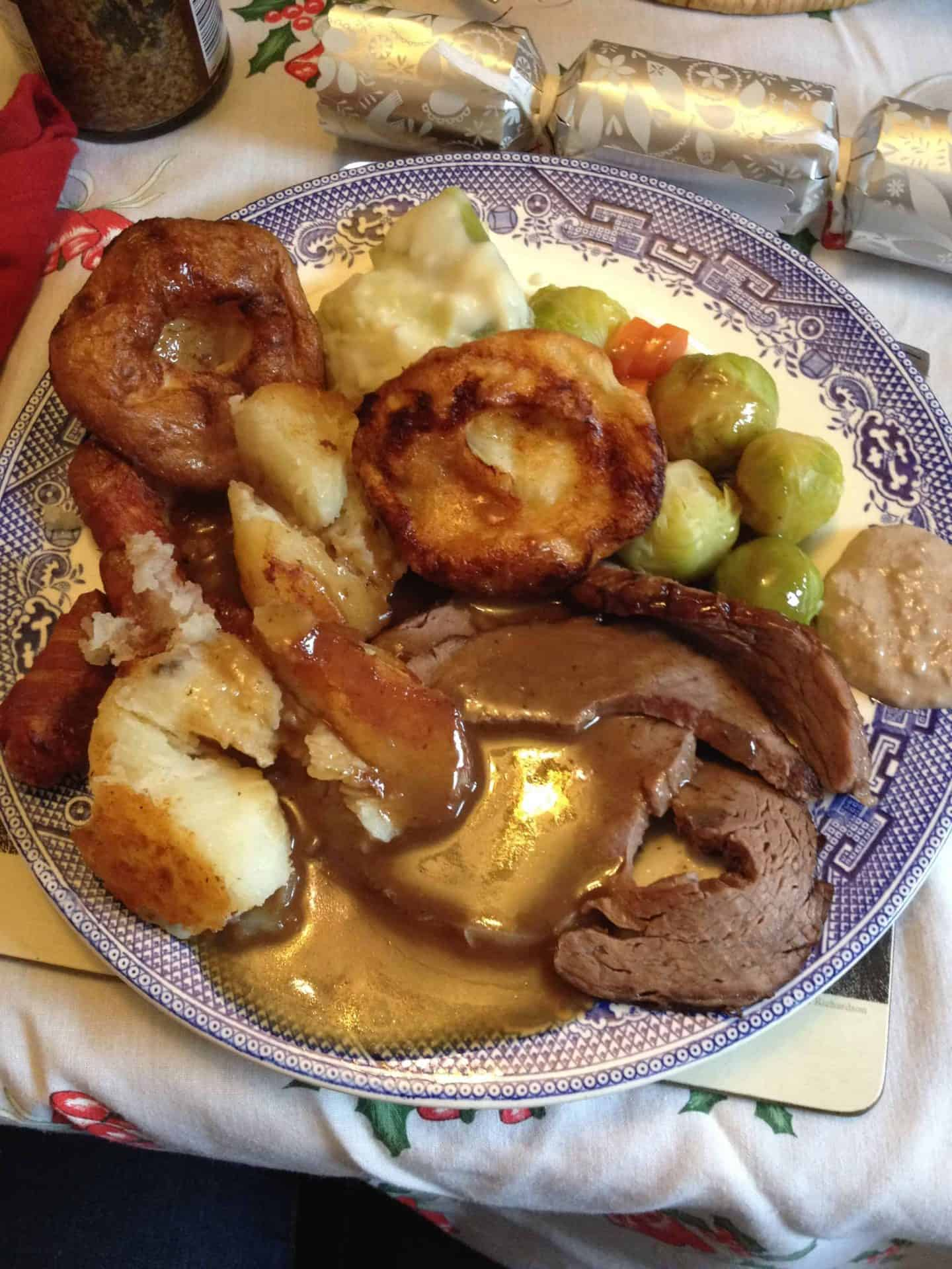My gluten free Christmas dinner looked like….