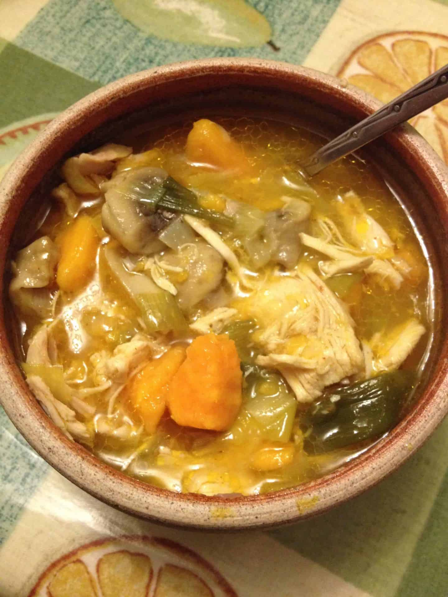 Warming winter lunches series: Cold-zapping gluten free chicken soup
