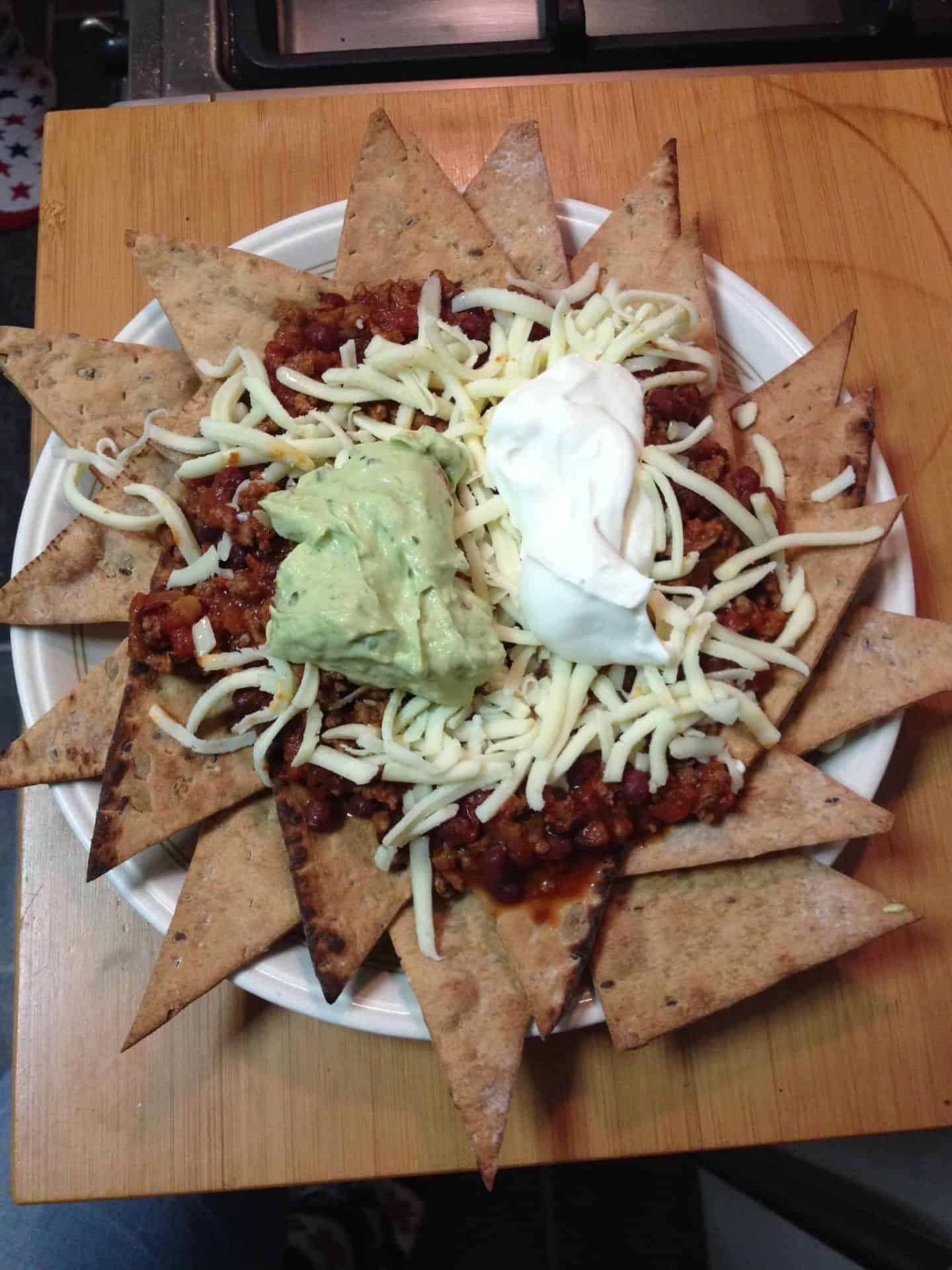 Home made gluten free nachos for belated 'Superbowl Sunday'