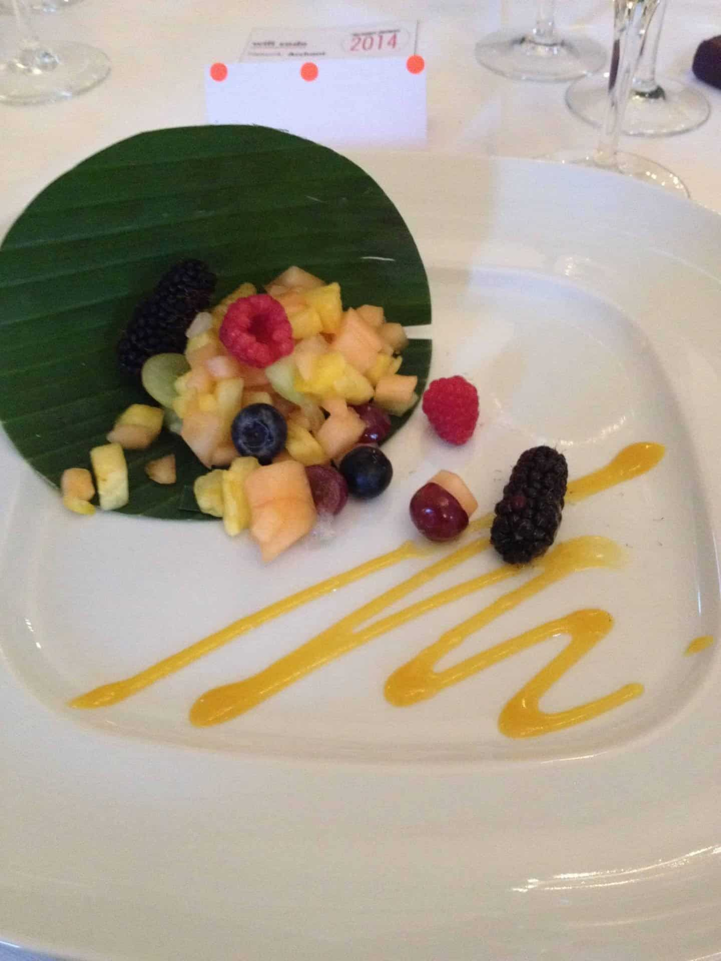 Eating gluten free at awards dos: bring on the fruit salad…
