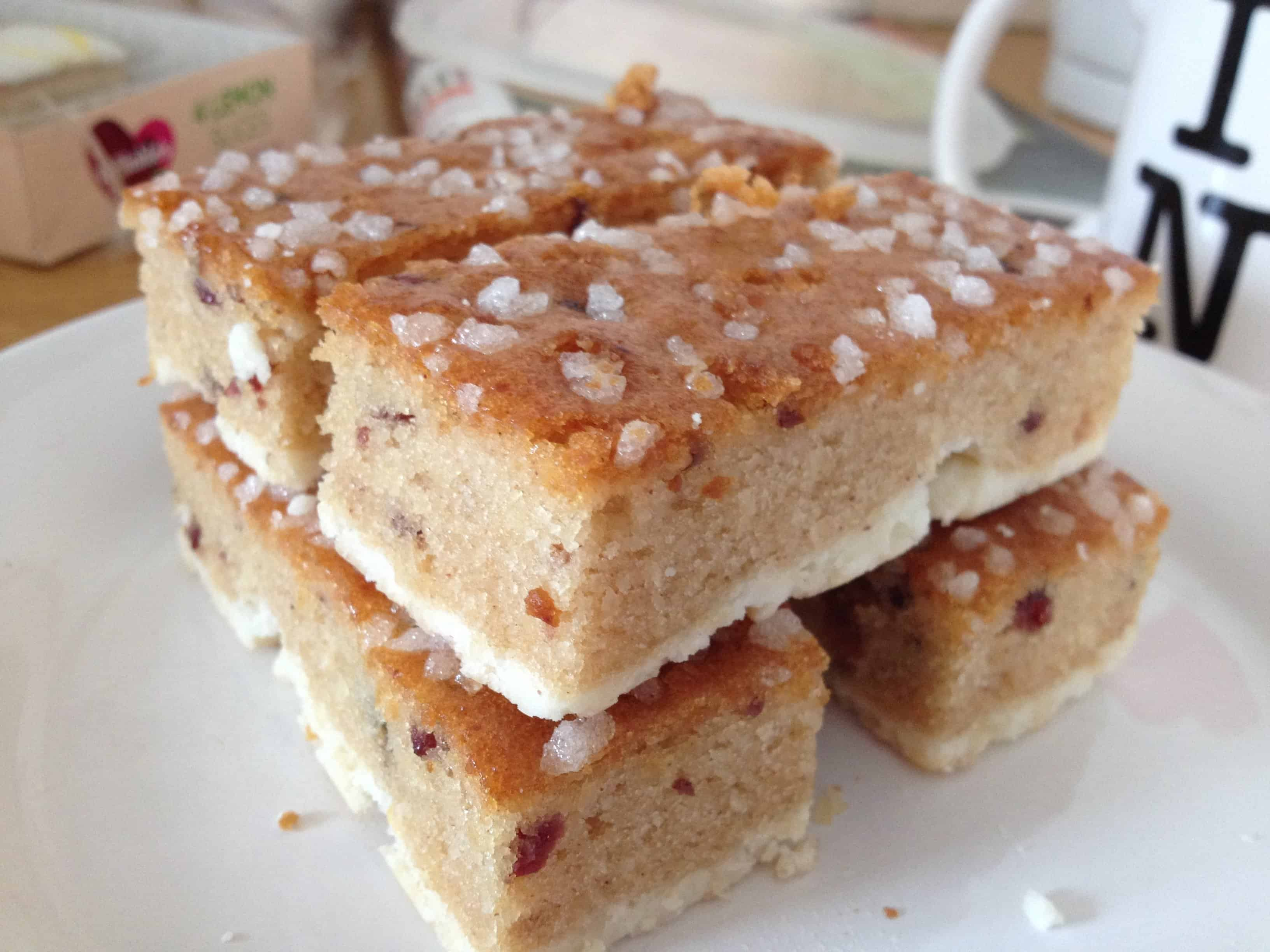 The gluten free country fruit slice from Mrs Crimble's.