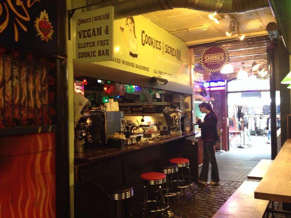 Cookies and Scream in Camden Lock Market.