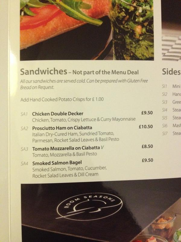 Gluten free bread option for sandwiches on room service!