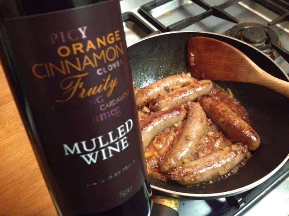 Gluten free sausage, bean and mulled wine casserole recipe