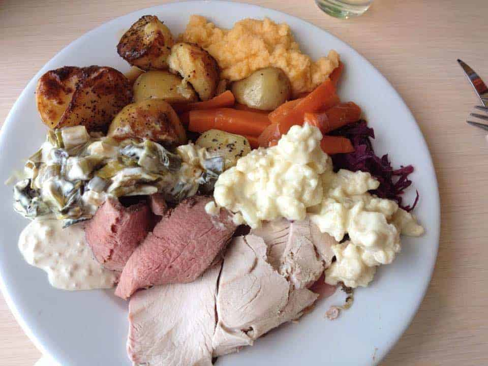 Gluten free carvery at The Pier House, Westward Ho!