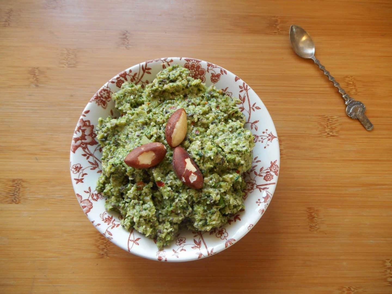 Brazil nut and broccoli pesto – gluten free, cow's milk free