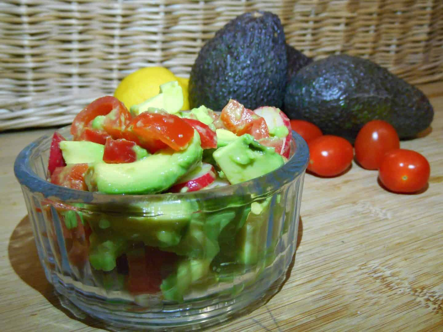 Super quick tangy avocado salsa