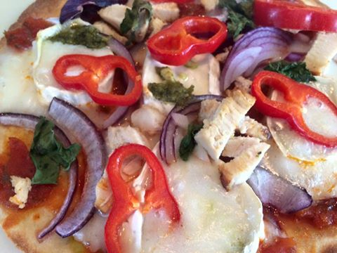 Quick and easy gluten free wrap pizzas