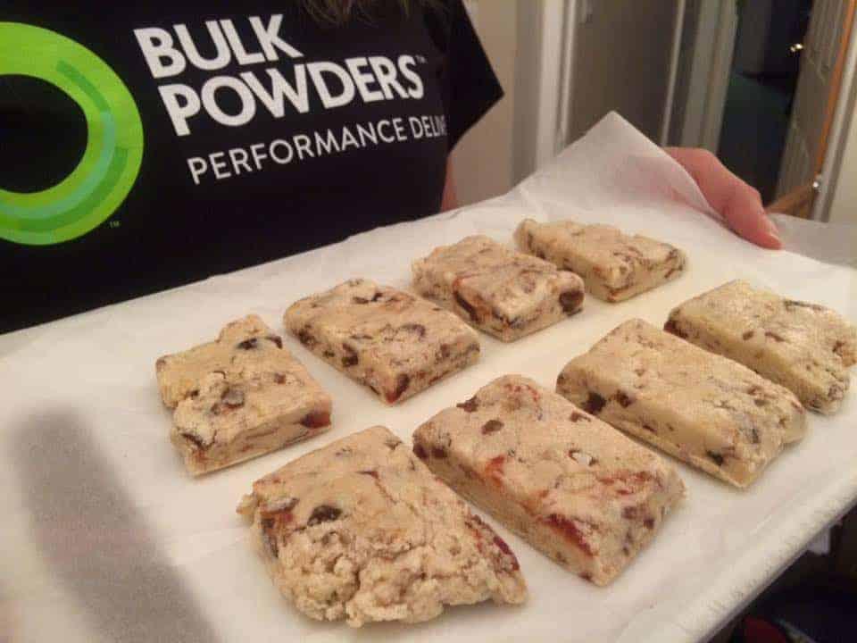 Recipe: Gluten free chewy banoffee protein bars