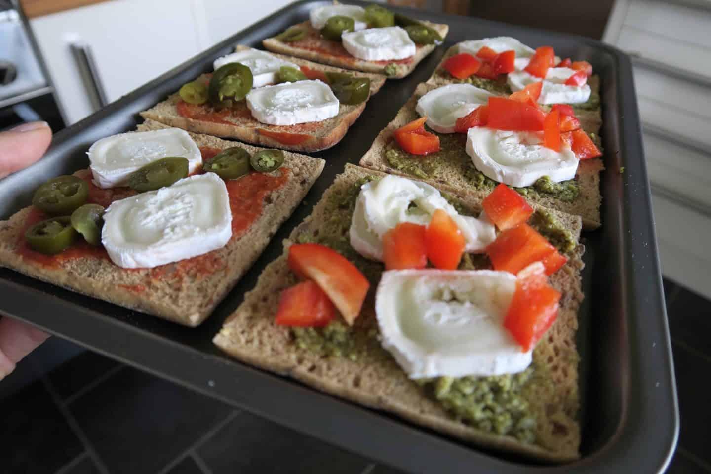 Gluten free mini pizzas with new recipe Newburn Bakehouse sandwich thins