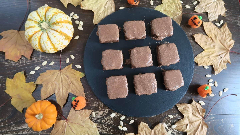pumpkin spice brownies gluten free dairy free egg free refined sugar free