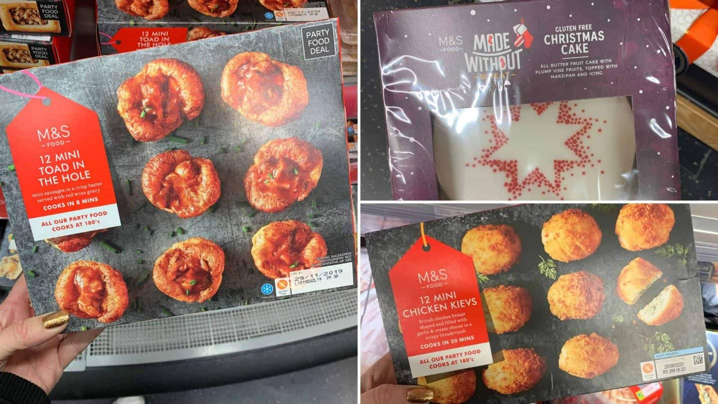 gluten free christmas food m&S