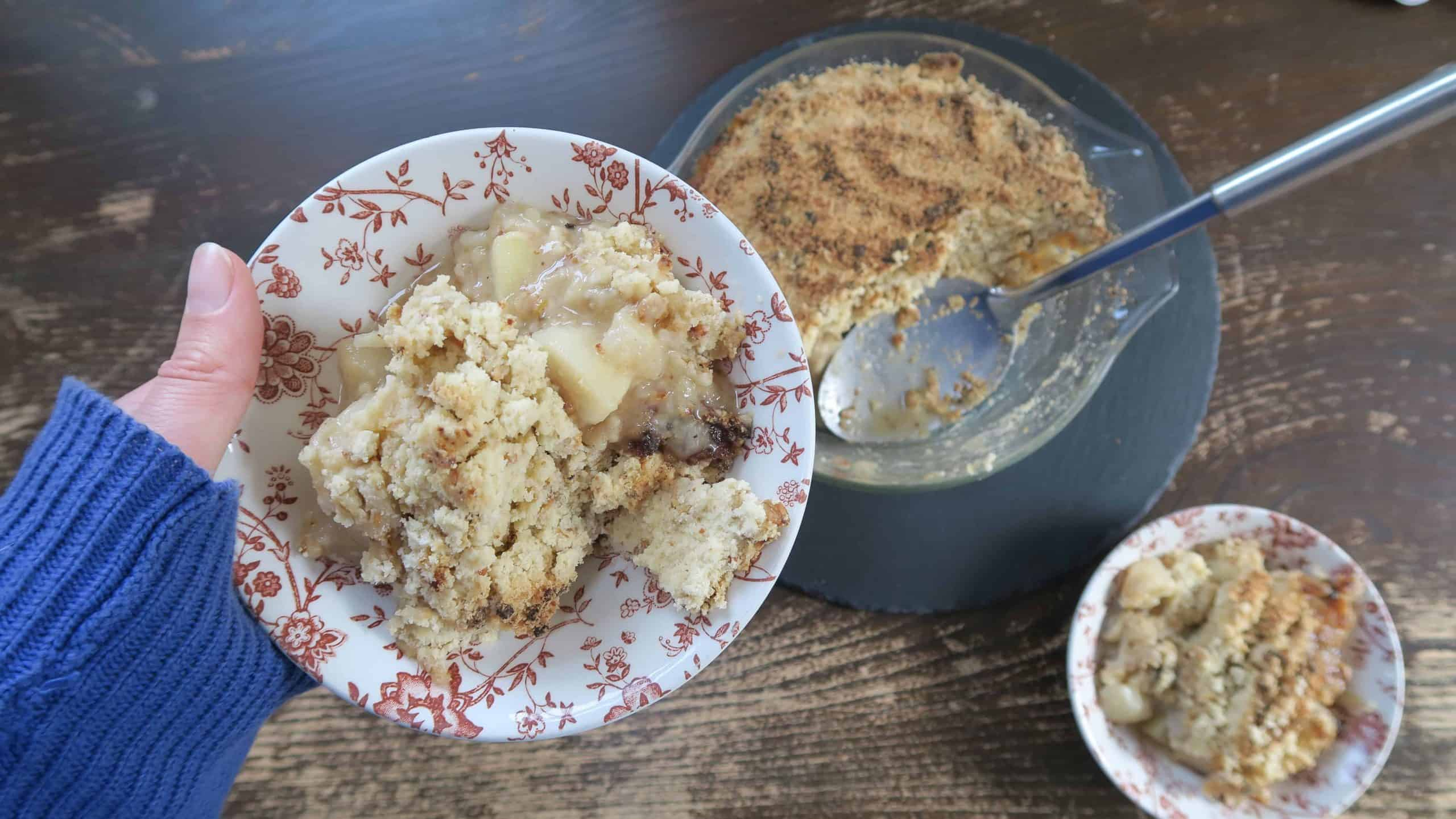 gluten free spiced pear crumble recipe