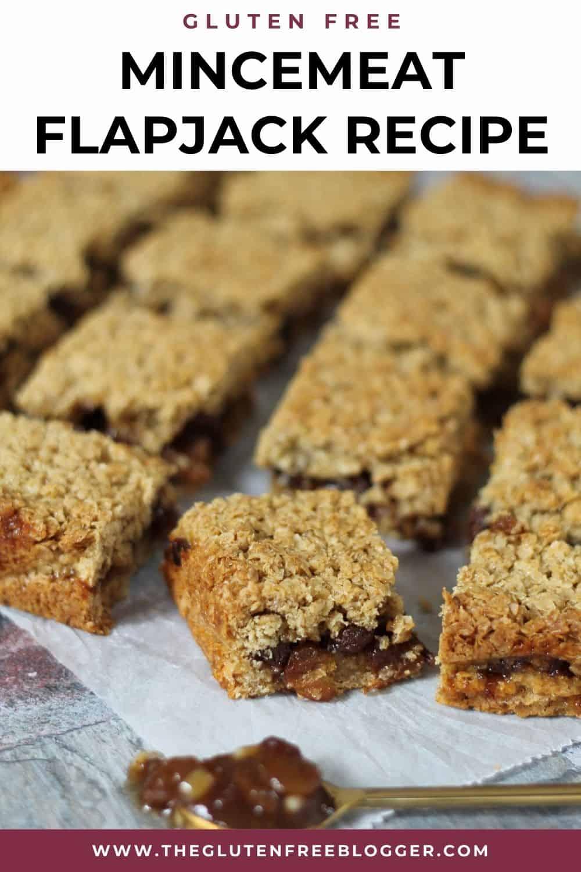 gluten free mincemeat flapjack recipe