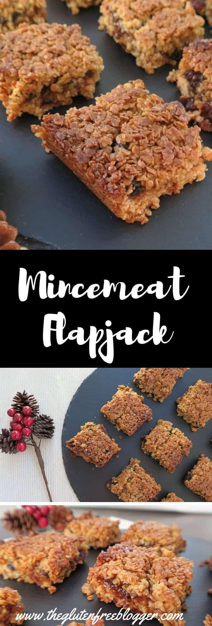 gluten free mincemeat flapjack - christmas recipe - gluten free christmas - coeliac