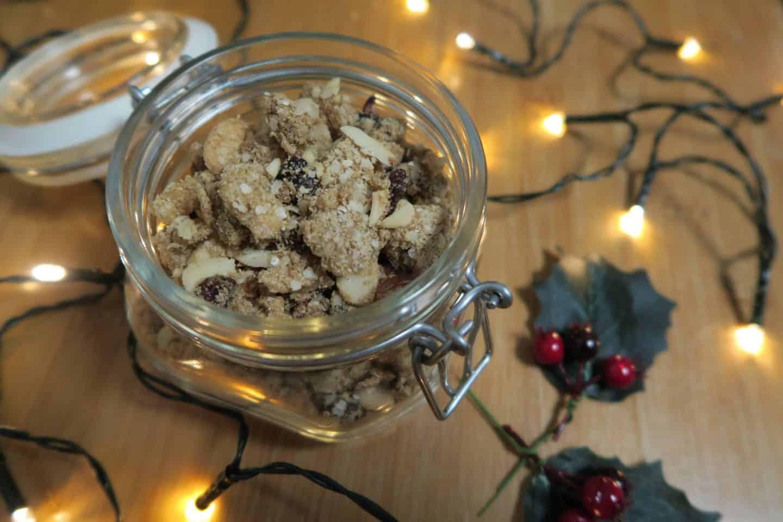 Gluten free, grain free, oat free spicy winter granola