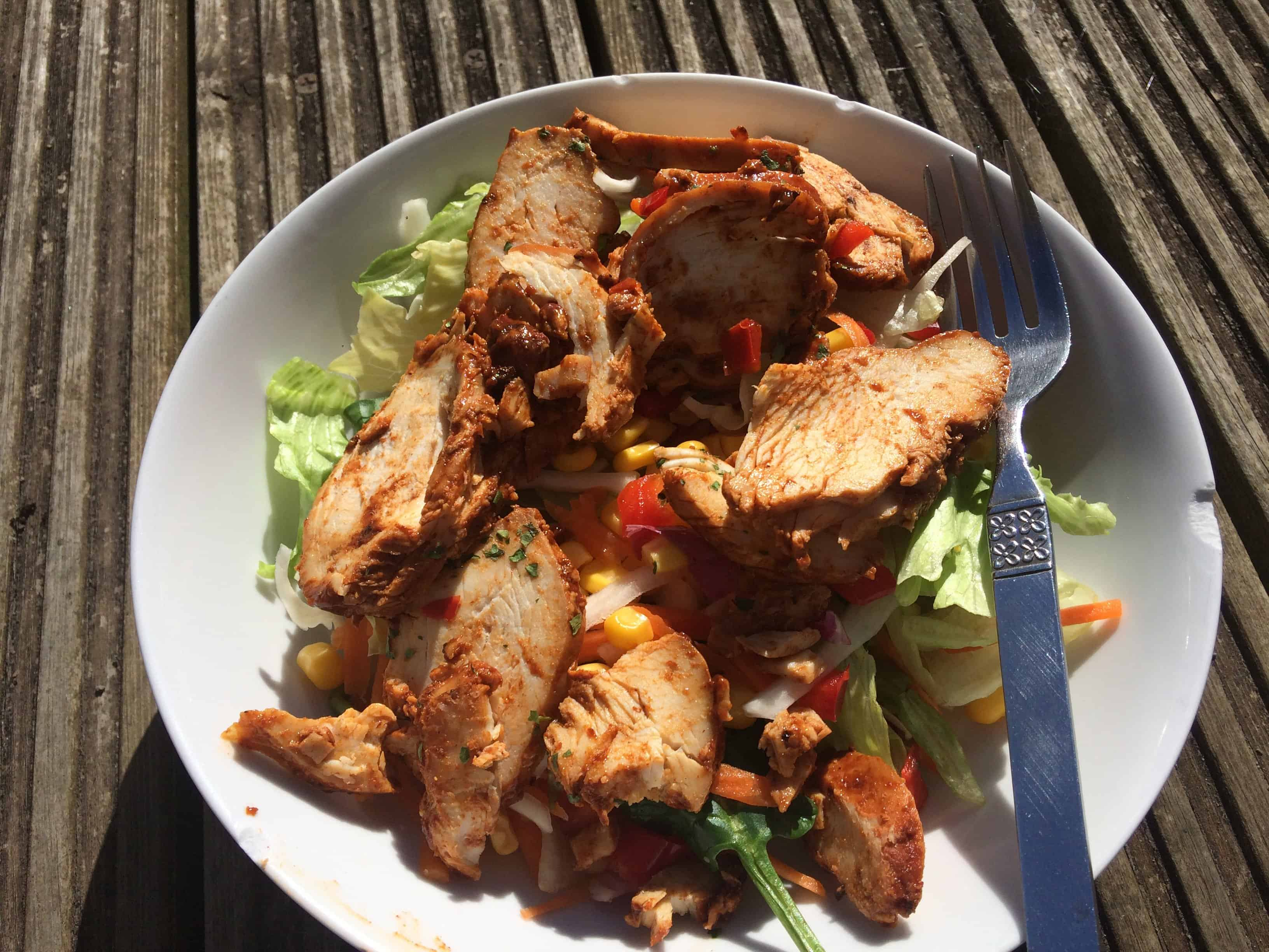 Gluten free chicken salad sunshine