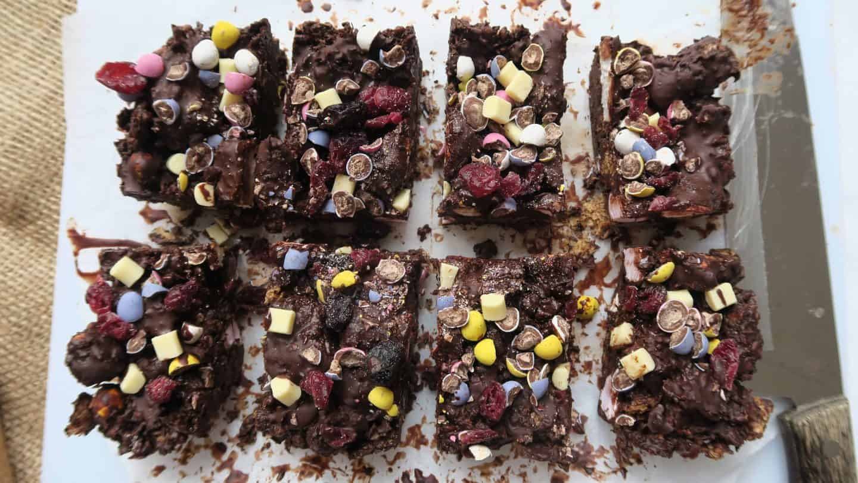 Gluten free mini egg rocky road recipe - www.theglutenfreeblogger.com