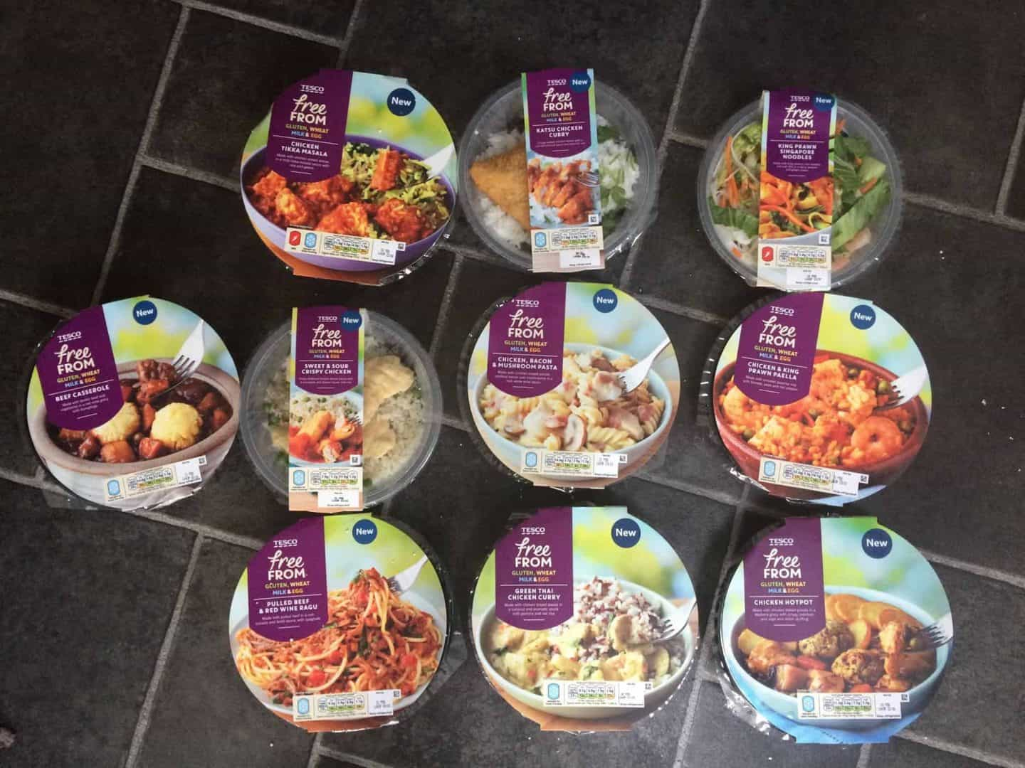 New gluten, dairy and egg free Tesco ready meals