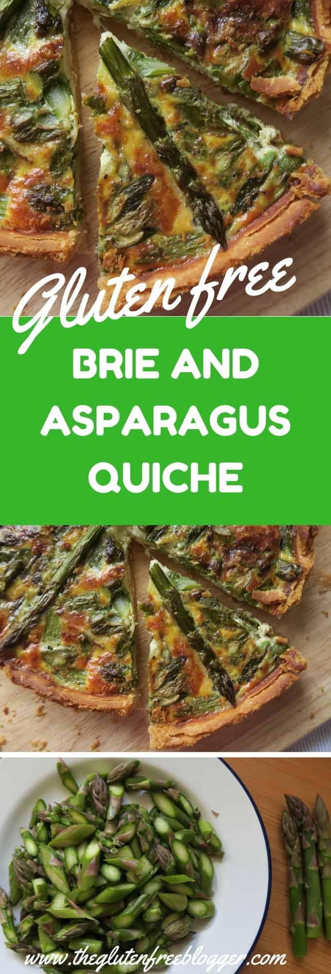 GLUTEN FREE BRIE AND ASPARAGUS QUICHE RECIPE - www.theglutenfreeblogger.com