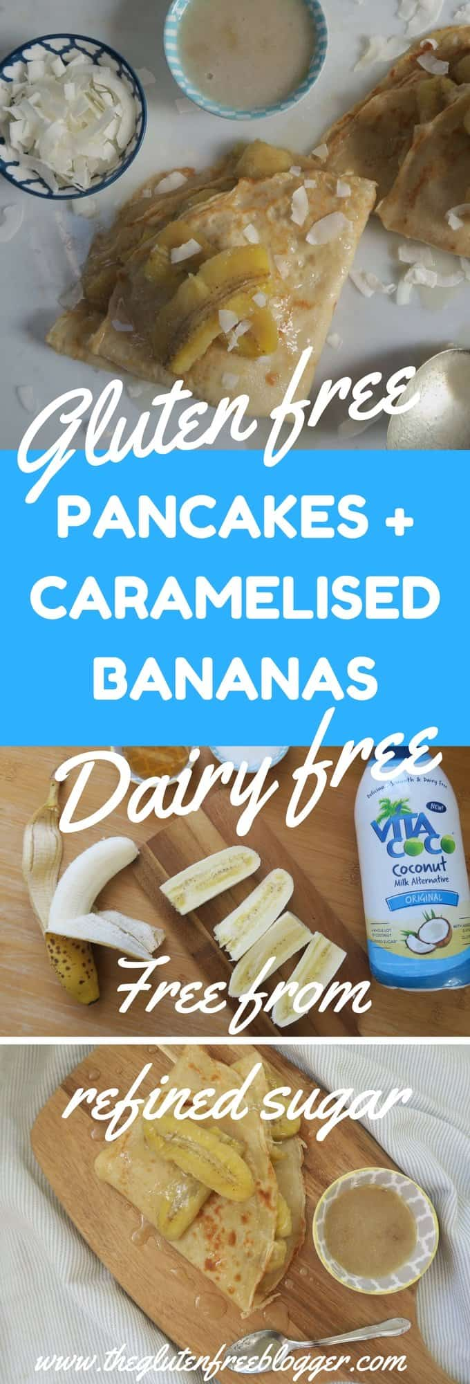 Gluten free, dairy free pancakes with caramelised bananas. With Vita Coco. - www.theglutenfreeblogger.com (1)