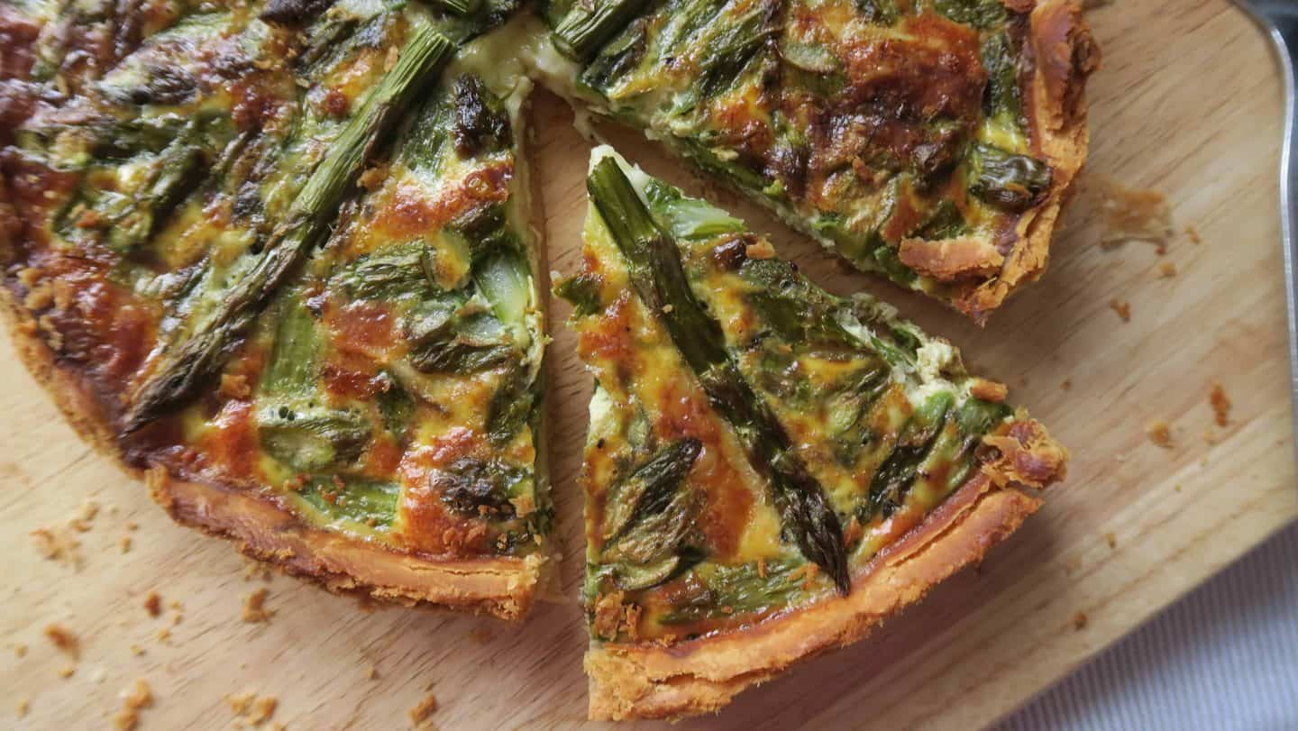 gluten free brie and asparagus quiche