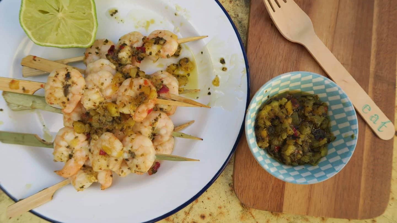 GLUTEN FREE bbq VITA COCO MANGO AND CORIANDER BBQ PRAWNS 52