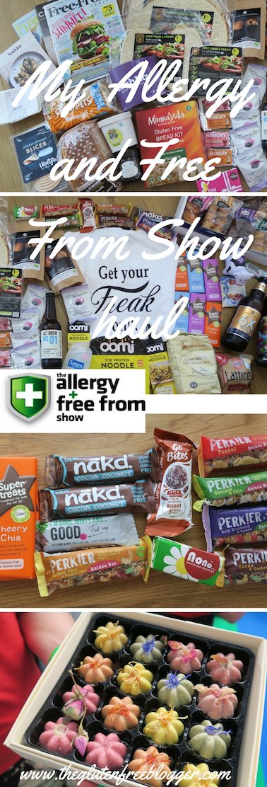 My complete haul from the Allergy and Free From Show London 2017 - www.theglutenfreeblogger.com