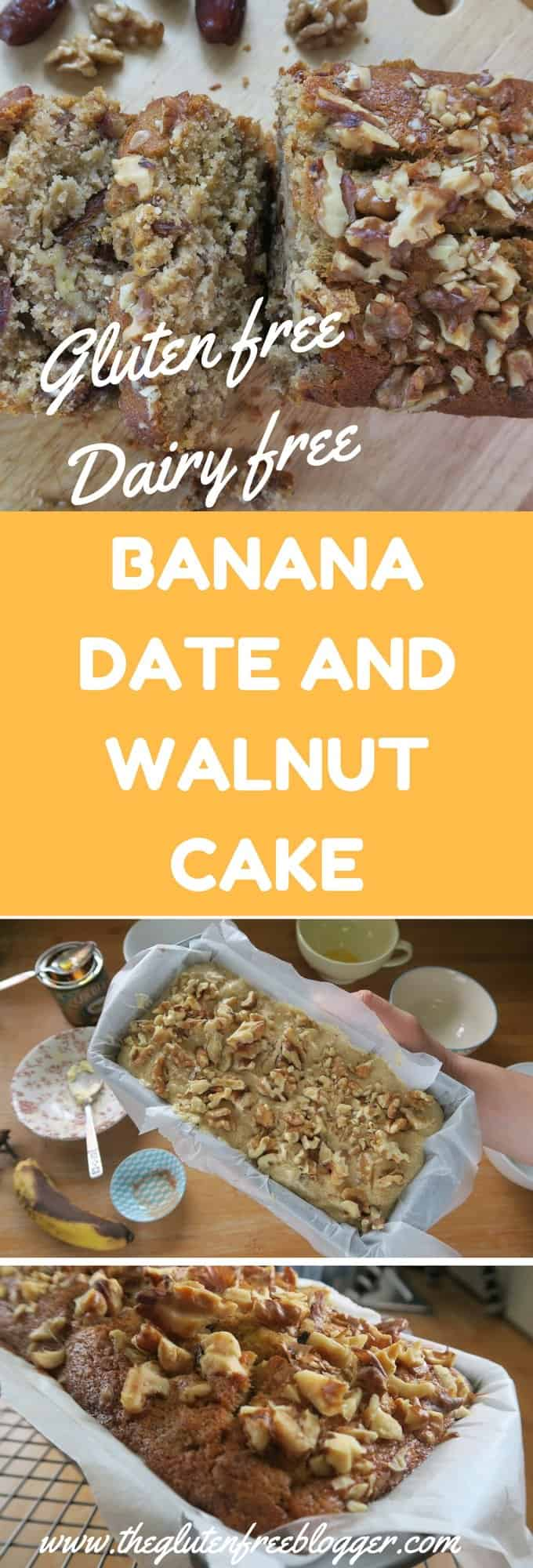 GLUTEN FREE & DAIRY FREE BANANA DATE AND WALNUT CAKE RECIPE FROM THE GLUTEN FREE BLOGGER - www.theglutenfreeblogger.com