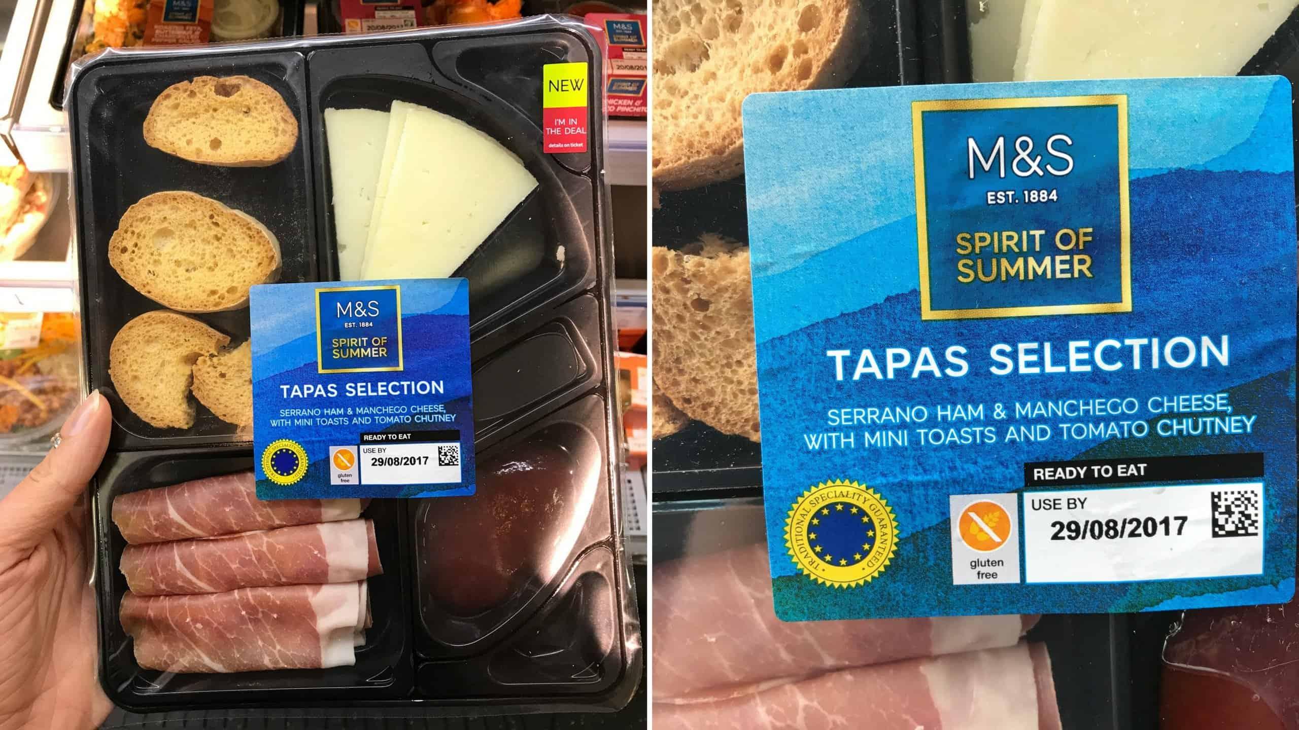 gluten free M&S tapas