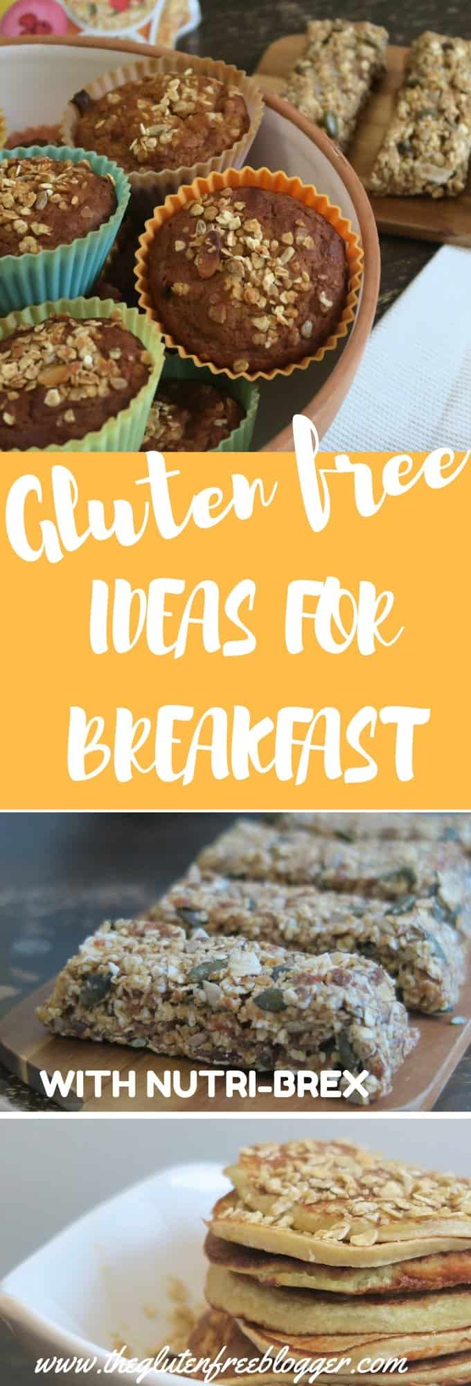 Easy gluten free breakfast ideas - breakfast muffins, protein pancakes, breakfast bars, breakfast crumbles, smoothies - www.theglutenfreeblogger.com