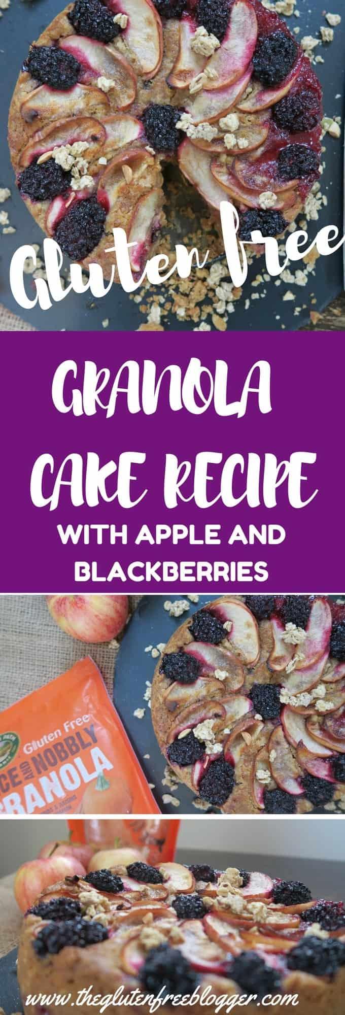 Gluten free granola cake recipe with apple and blackberries - autumn recipes - egg free - www.theglutenfreeblogger.com (1)