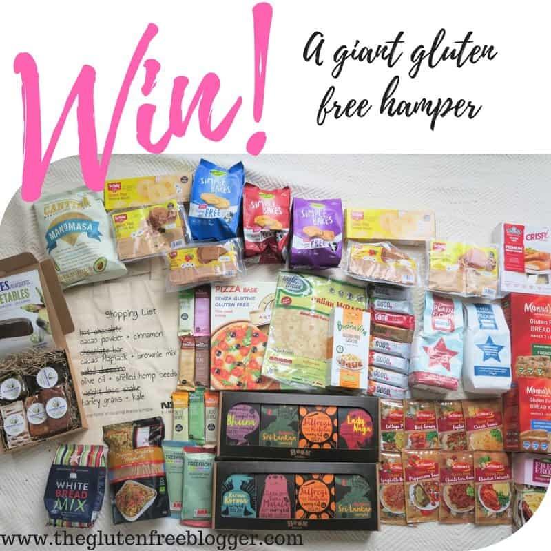 win giant gluten free hamper insta