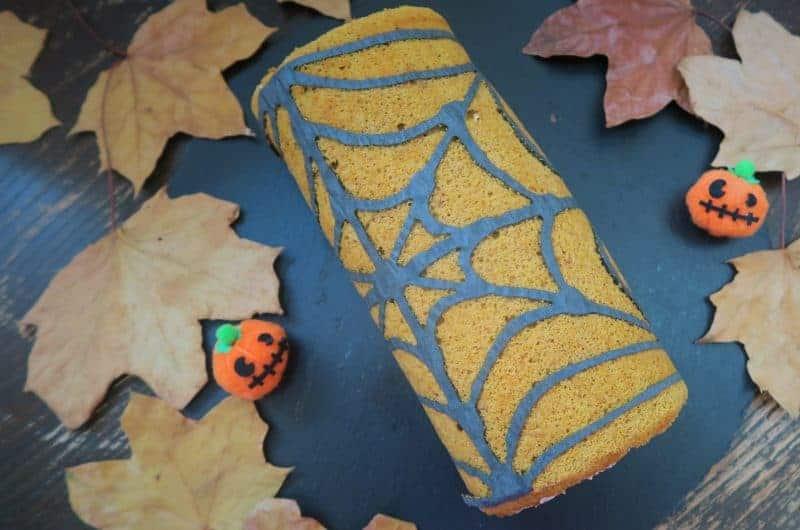pumpkin spice gluten free swiss roll recipe halloween