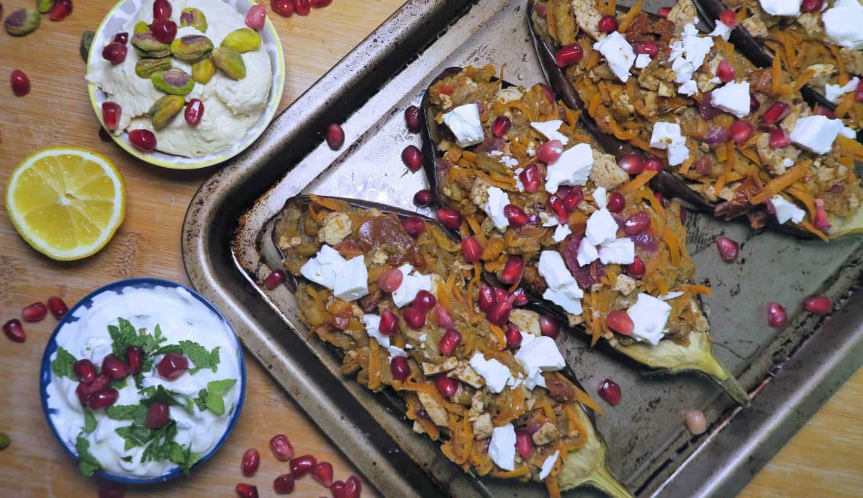 Gluten free stuffed aubergines recipe