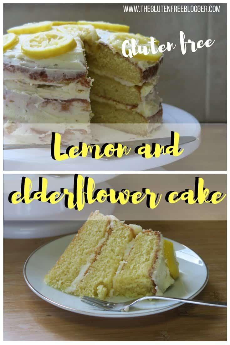 Gluten free lemon and elderflower cake - lemon and elderflower wedding cake - royal wedding - prince harry and meghan wedding cake - cake recipe