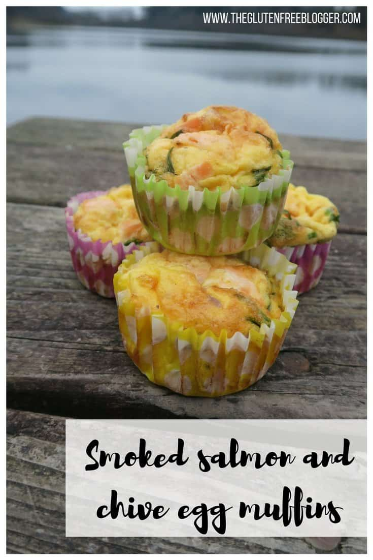 Gluten free smoked salmon and chive egg muffins recipe - paleo recipe - easy lunch recipes - gluten free lunch ideas - coeliac disease