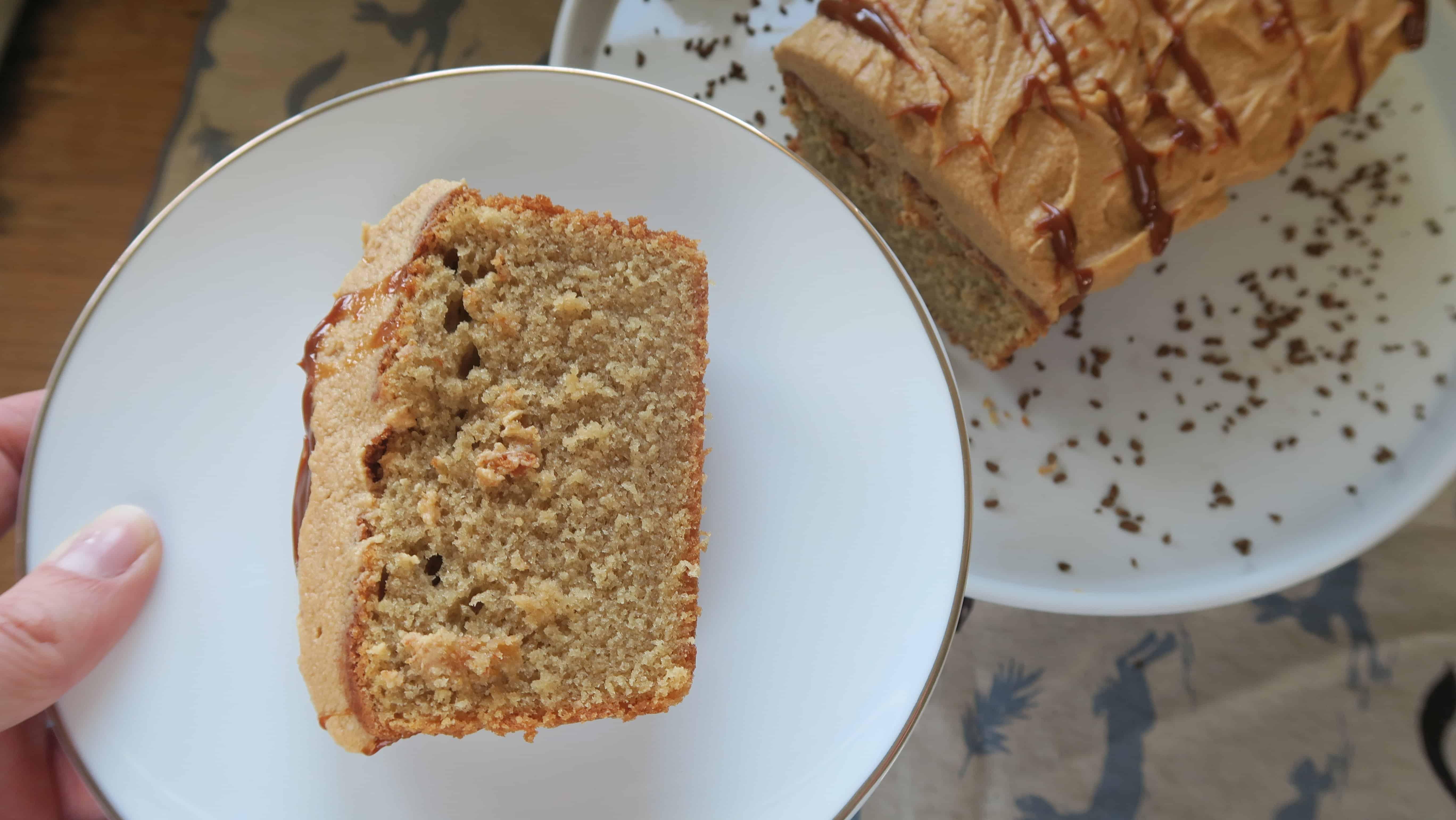 gluten free COFFEE CAKE CARAMEL LATTE CAKE