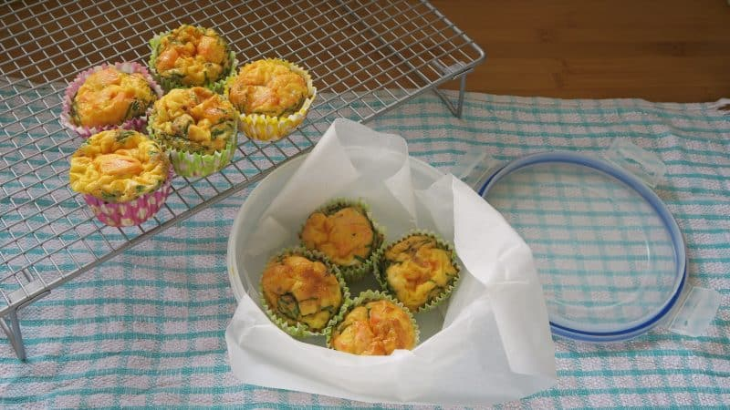 gluten free smoked salmon and chive egg muffins