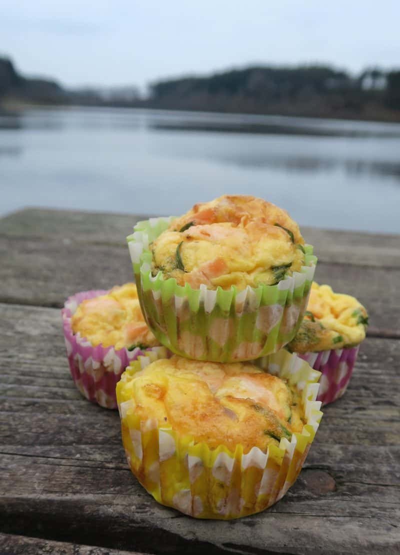 gluten free smoked salmon and chive egg muffins 7