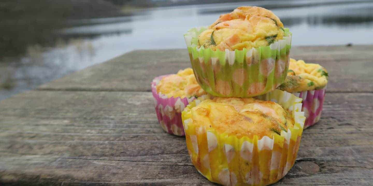 gluten free smoked salmon and chive egg muffins 9
