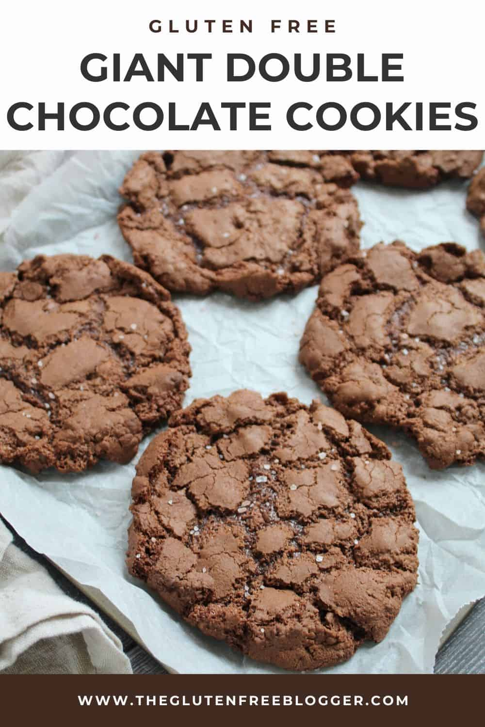 gluten free chocolate cookie recipe - double chocolate giant cookies
